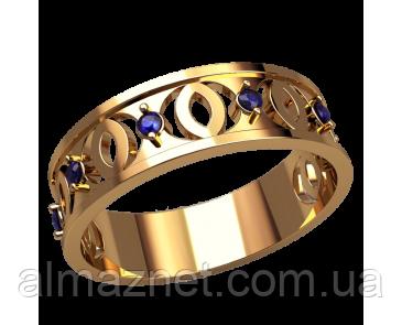 Золотое кольцо без накладок Миссури