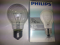 Лампа PHILIPS 60w clear, лон 230-60 Е27