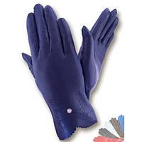 Женские перчатки из натуральной кожи модель 010 без подкладки
