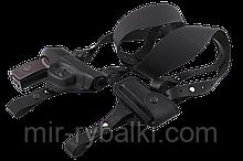 Кобура оперативная двухсторонняя ПМ формованная с чехлом под магазин (кожа, чёрная)