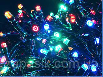 Гирлянда Нить 100 LED на Елку Цвета в Ассортименте Черный Провод