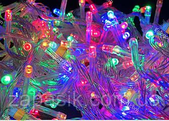Гирлянда Нить 100 LED на Елку Цвета в Ассортименте Белый Провод