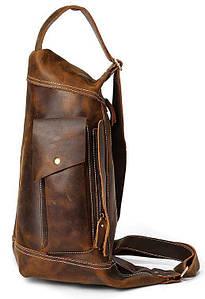 Мужская винтажная сумка через плечо Vintage 14782 Коричневая, Коричневый