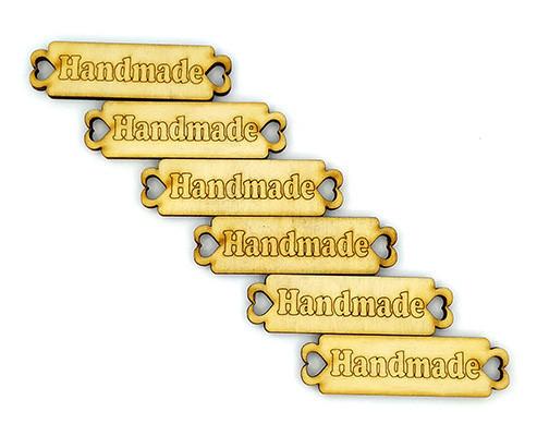 """Набор деревянных бирок """"Handmade """" 6 шт."""
