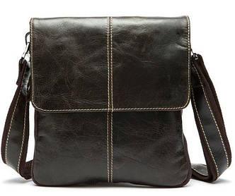 Кожаный мужской мессенджер Vintage 14849 Коричневый, Коричневый