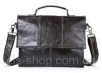 Мужская сумка кожаная Vintage 14854 Коричневая, Коричневый
