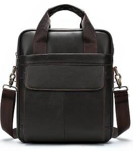 Вертикальная сумка мужская Vintage 14876 Серо-коричневая, Коричневый