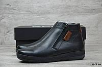 Мужские кожаные зимние ботинки Ecco (Реплика) (Код: 33/2 зм  ) ►Размеры [40,41,42,43,44,45], фото 1