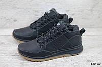 Мужские кожаные зимние кроссовки New balance (Реплика) (Код: 100 чер  ) ►Размеры [40,41,42,43,44,45], фото 1