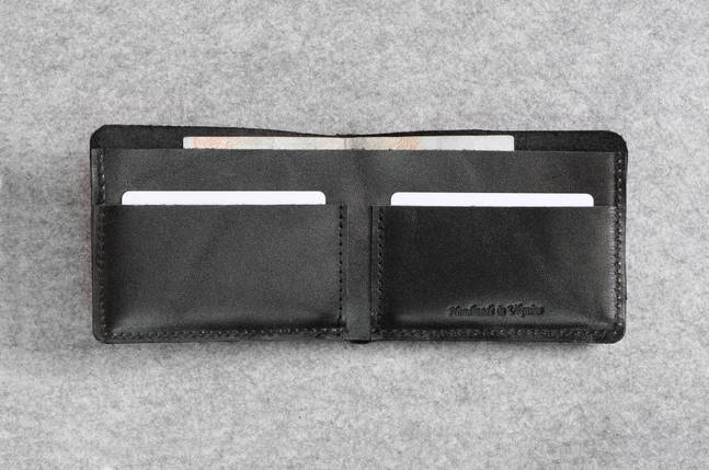"""Кожаный кошелек """"Bro Wallet Elegant Black"""", мужские сумки, кошельки, портмоне, фото 2"""
