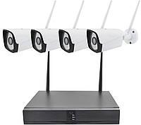 Комплект видеонаблюдения беспроводной DVR KIT CAD Melad Full HD TV-66731HDE-XMZ WiFi 4ch набор на 4 камеры #S/O