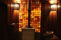 Реализованный проект сауны: стены термоольха/полки магнолия