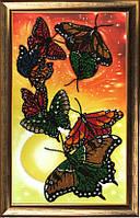 Набор для вышивания бисером Вальс бабочек БФ 106