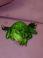 Декоративная статуэтка фигура Лягушка зеленая 8 сантиметров ширина