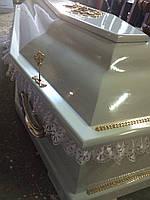 Гроб - лакированный (цвет белый) сайт:  Orfey1.com