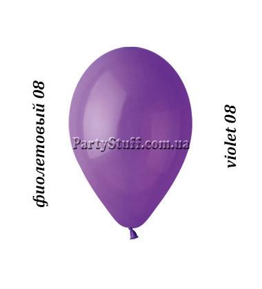 Воздушные шарики Gemar G90 пастель ФИОЛЕТОВЫЙ