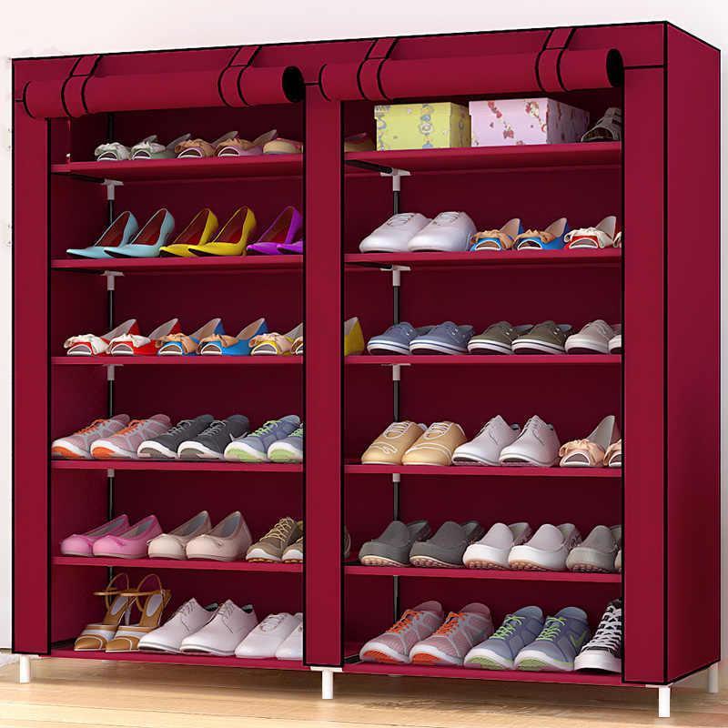 Портативный тканевый Шкаф для обуви и одежды Шкаф 2712А