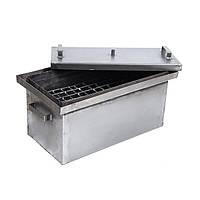 Коптильня горячего копчения (не окрашена,1,7 мм сталь,550*300*280 мм) HousePro