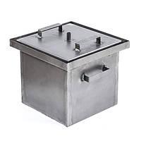 Коптильня горячего копчения малая (не окрашена,1,7 мм сталь, 300*300*280 мм) HousePro