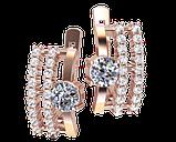 Золоті сережки Венеціанські, фото 2