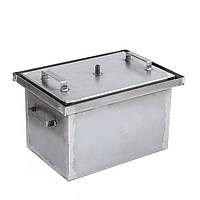 Коптильня горячего копчения большая (не окрашена,1,7 мм сталь,550*300*280 мм) HousePro