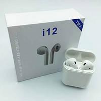 Бездротові Bluetooth-Навушники HBQ I 12 TWS Білі, фото 1