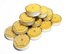 Чайные эко-свечи из пчелиного воска Tea Lights Candles, восковые  свечи в гильзе