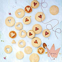 Рецепт: Пісочне печиво з джемом