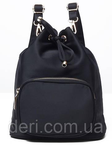 Рюкзак женский нейлоновый Vintage 14871 Черный, Черный, фото 2