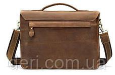Сумка-портфель мужская из кожи на плечо Vintage 14775 Рыжая, Рыжий, фото 2