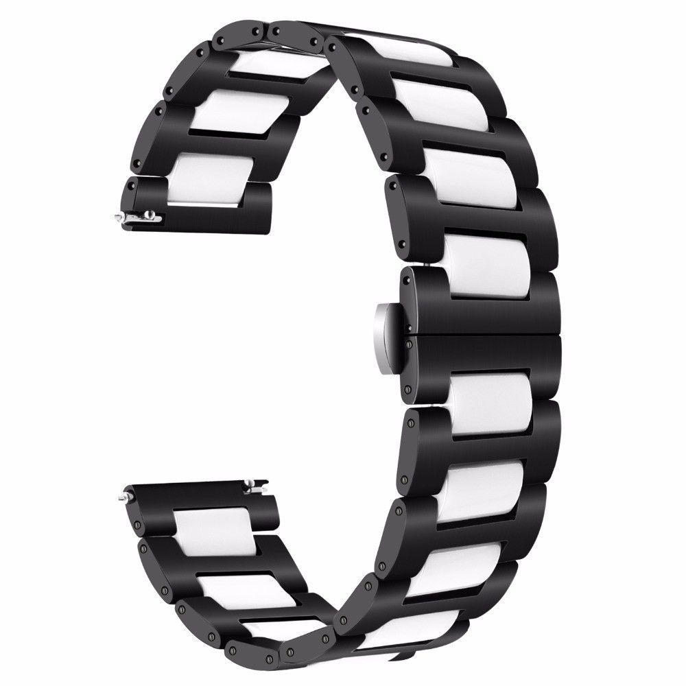 Браслет керамический BeWatch шириной 22 мм для Samsung Gear S3 Black-White (1021901)