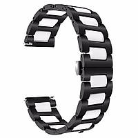 Браслет керамический BeWatch шириной 22 мм для Samsung Gear S3 Black-White (1021901), фото 1