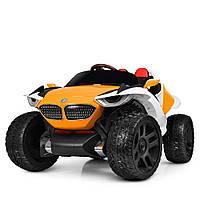 Детский электромобиль Джип 4WD Монстер Трак, M 4064EBLR-7 оранжевый