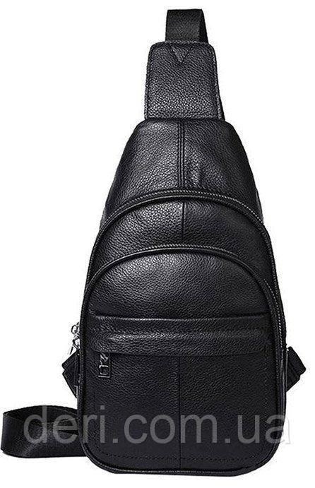 Сумка мужская через плечо кожаная Vintage 14840 Черная, Черный