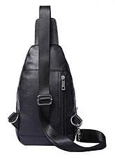 Сумка мужская через плечо кожаная Vintage 14840 Черная, Черный, фото 2