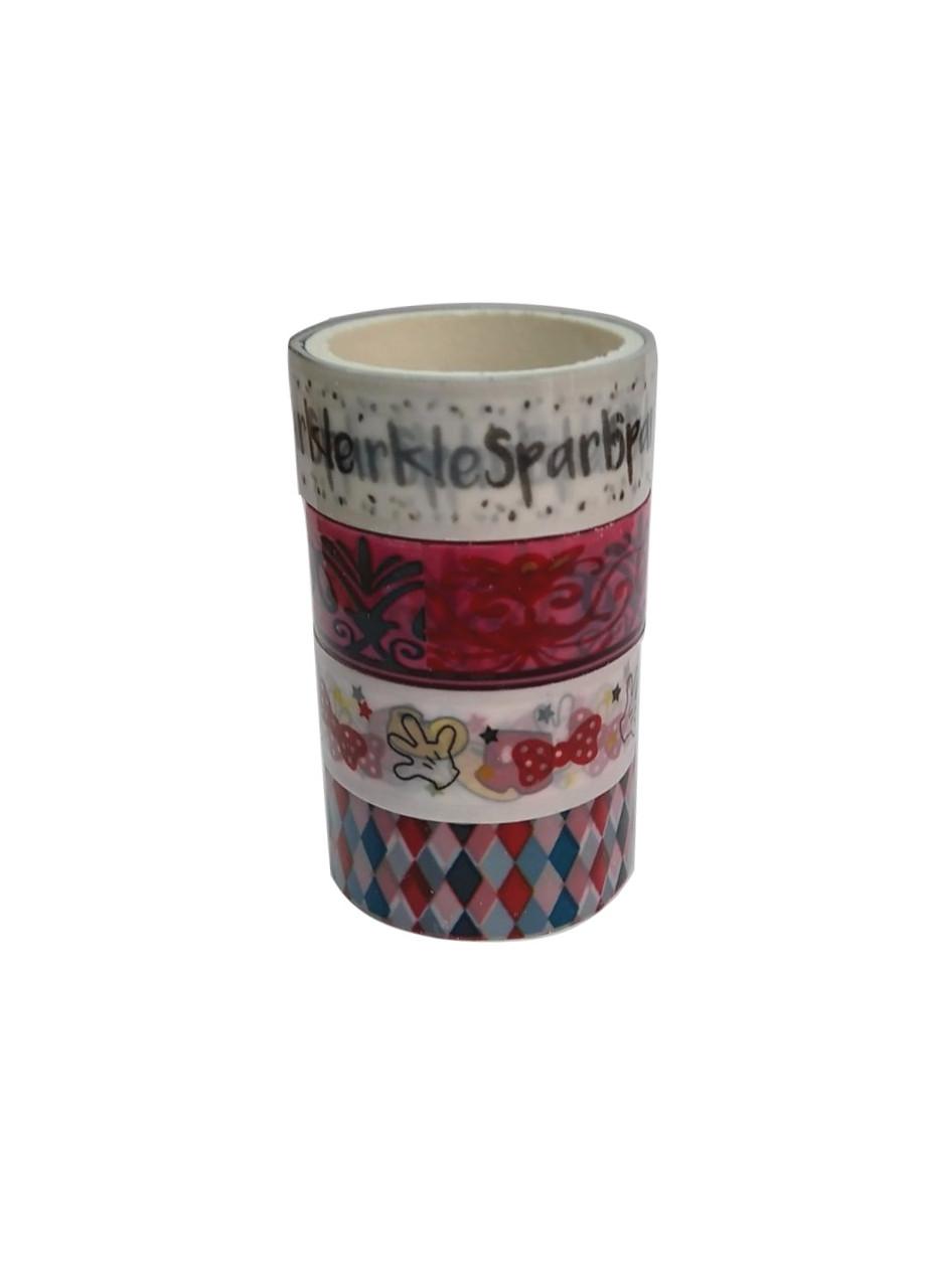 Набор декоративного скотча (4шт) 3м Penny 3м Серый, Белый, Сиреневый