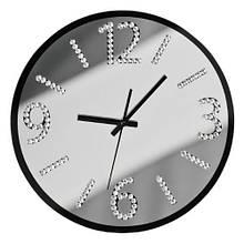 Настенныме часы Diamantes, стекло, серебро, 4x35x35