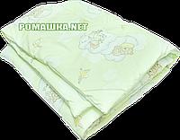Одеяло детское на силиконе в детскую кроватку 120х60 см, верх хлопок, 140х100 см, ТМ Ромашка, фото 1