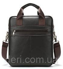 Вертикальная сумка мужская Vintage 14876 Серо-коричневая, Коричневый, фото 2