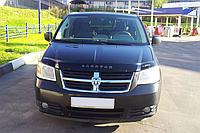 Дефлектор капота (мухобойка) Dodge Caravan V 2007–2010