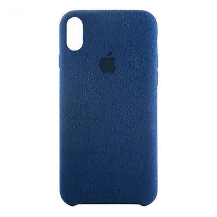 Чехол  накладка для iPhone XR Alcantara blue, фото 2