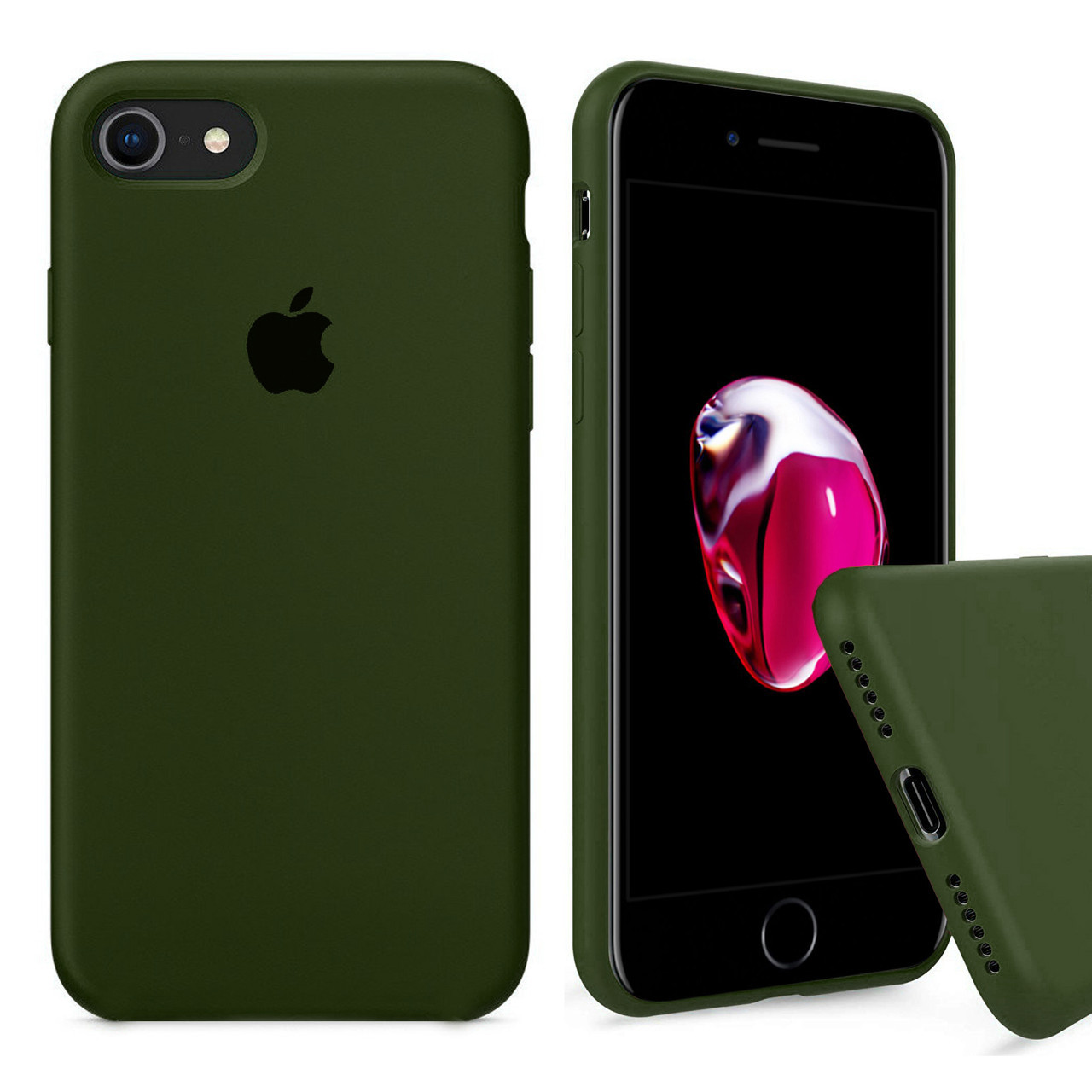 Чехол накладка xCase для iPhone 6/6s Silicone Case Full olive