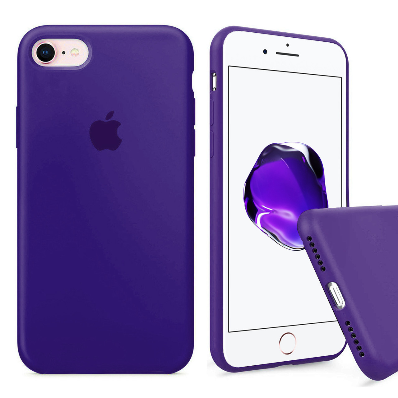 Чехол накладка xCase для для iPhone 6 Plus/6sPlus Silicone Case Full purple