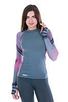 Рашгард женский Totalfit RW1-15 S черный,розовый, фиолетовый, фото 1