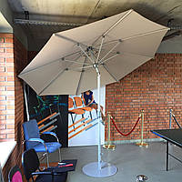 Уличный зонт от солнца для пляжа или сада d=300. Цвет БЕЖЕВЫЙ.