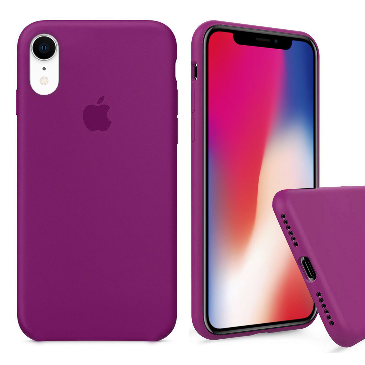 Чехол накладка xCase для iPhone XR Silicone Case Full dragon fruit