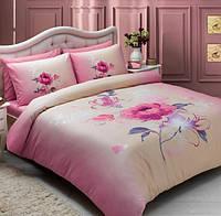 Постельное белье Tac мако сатин - Julia розовое евро