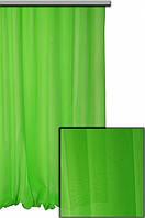 Ткань Шифон для декора окон и помещений, ярко-зеленый