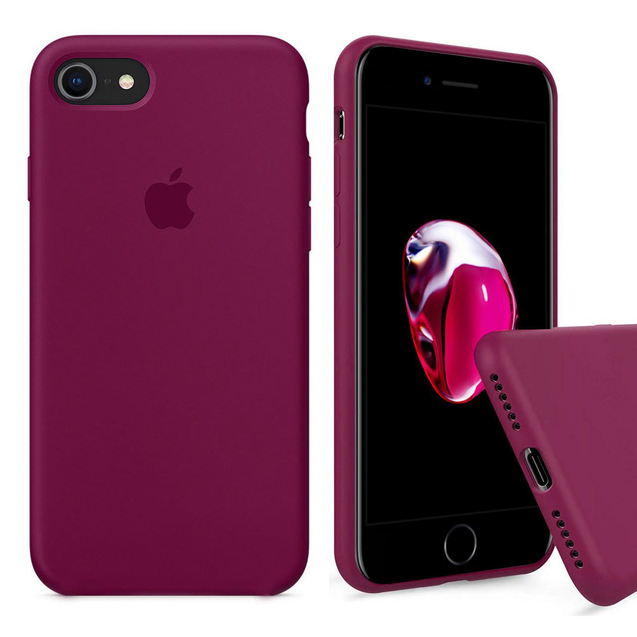 Чехол накладка xCase для iPhone 6/6s Silicone Case Full rose red