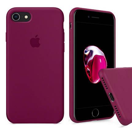 Чехол накладка xCase для iPhone 6/6s Silicone Case Full rose red, фото 2